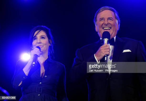 Sharleen Spiteri on stage with Terry Wogan during the BBC Proms In The Park 2008 concert in Hyde Park central London