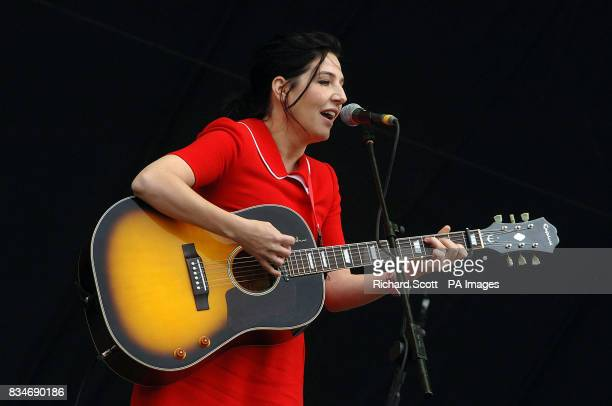 Sharleen Spiteri performs on the Main Stage at the T in the Park music festival near Kinross in Scotland