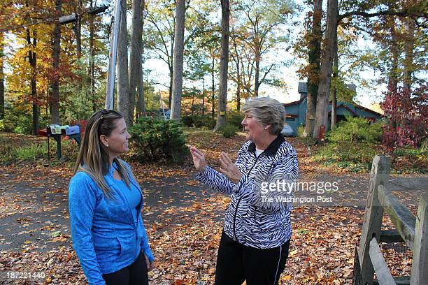 Sharlene Loughins McGivery moments after reuniting with Sandy Hoyt the Edgewater Md mom whose family sponsored Sharlene on a trip from strifetorn...