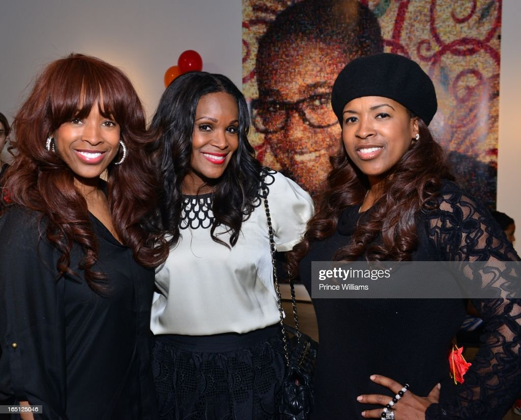 Sharlinda Parker, <a gi-track='captionPersonalityLinkClicked' href=/galleries/search?phrase=Tameka+Foster&family=editorial&specificpeople=4117530 ng-click='$event.stopPropagation()'>Tameka Foster</a> and Sabrina Rowe attend the birthday and foundation lanuch Kile's World to honor Kile Glover at the Woodruff Arts Center on March 29, 2013 in Atlanta, Georgia.