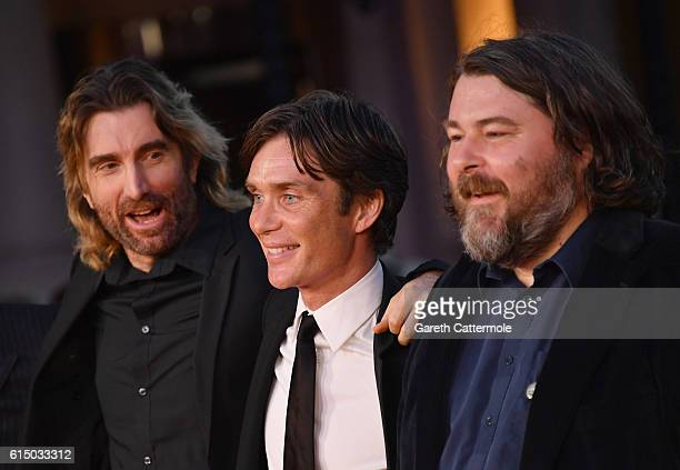 Sharlto Copley Cillian Murphy and Director Ben Wheatley attend the 'Free Fire' Closing Night Gala screening during the 60th BFI London Film Festival...