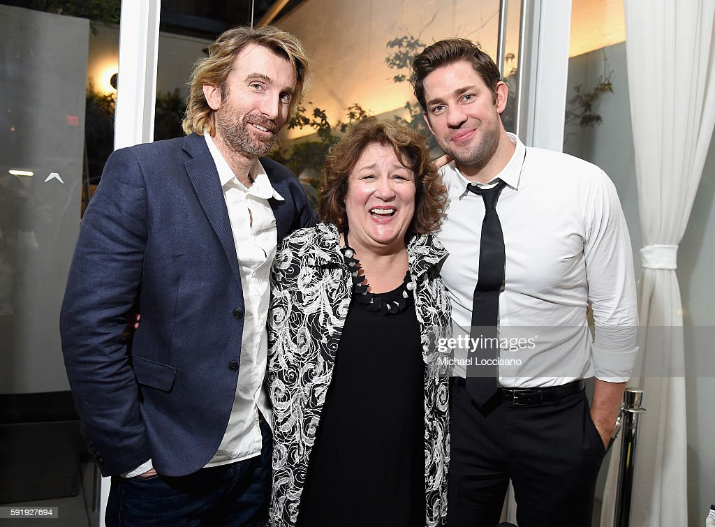 Sharlto Copley Margo Martindale and John Krasinski attend the 'The Hollars' New York Screening After Party at Cinepolis Chelsea on August 18 2016 in...
