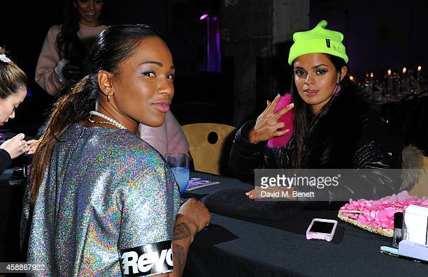 Sharmadean Reid and Bip Ling at the WAH London party hosted by Sharmadean Reid at The Laundry on November 12 2014 in London England