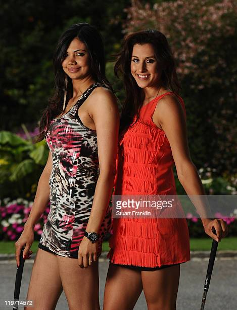 Sharmila Nicollet of India and Maria Verchenova of Russia for a picture at the gala dinner after the third round of the Evian Masters at the Evian...