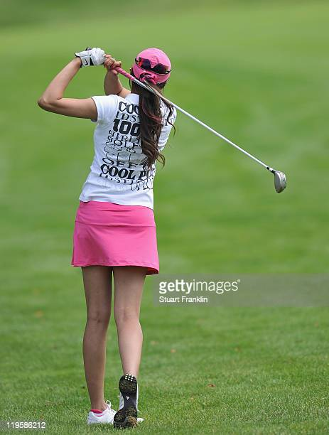 Sharmila Nicollet of India in action during the second round of the Evian Masters at the Evian Masters golf club on July 22 2011 in EvianlesBains...