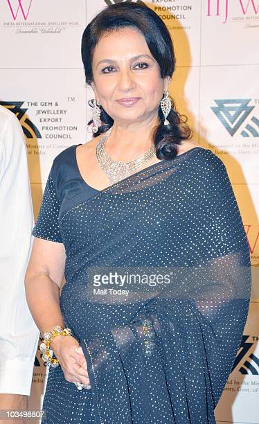 Sharmila Tagore at the India International Jewellery week in Mumbai on August 17 2010