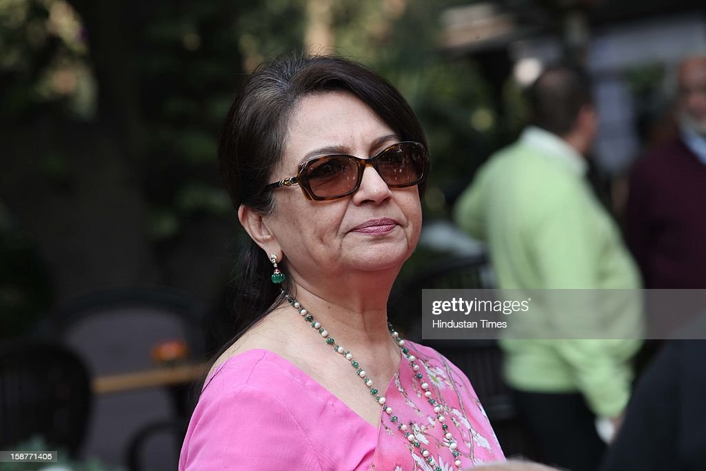 Sharmila Tagore during Christmas party thrown by communication guru Dilip and Devi Cherian at Lodi Garden on December 22, 2012 in New Delhi, India.