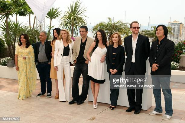 Sharmila Tagore Hanif Kureishi Shu Qi Robin Wright Nuri Bilge Ceylan Asia Argento Isabelle Huppert James Gray and Changdong Lee at the Palais de...
