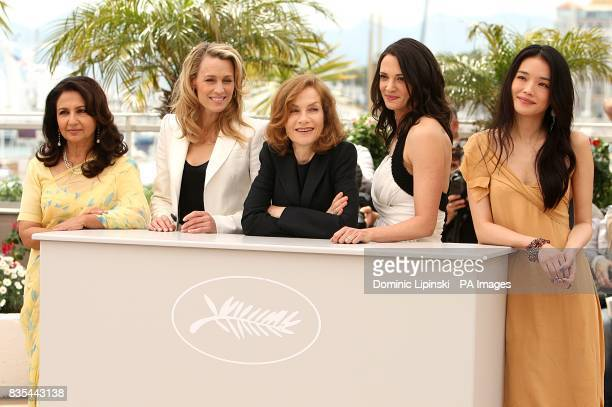 Sharmila Tagore Robin Wright Isabelle Huppert Asia Argento and Shu Qi at the Palais de Festival during the 62nd Cannes Film Festival France