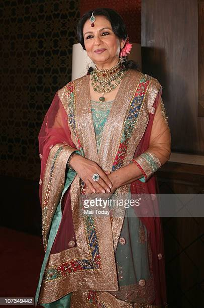 Sharmila Tagore walked the ramp for designer Ritu Kumar at a show presented by American Express and the Taj Group of Hotels