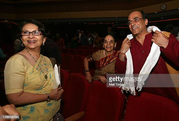 Sharmila Tagore with author Vikram Seth and his mother Leila Seth at a function on JRD Tata Memorial Oration and awards in New Delhi on Tuesday 31st...