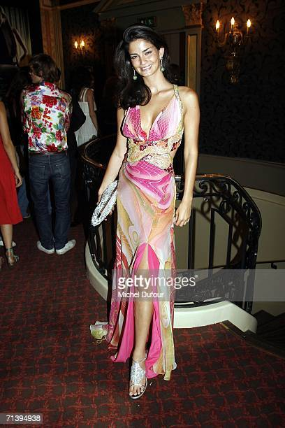 Sharmine Sharivar attends the after party at the Ritz Club on July 6 2006 in Paris France