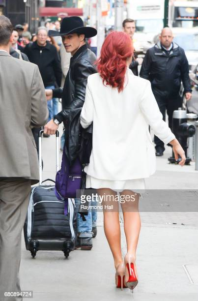 Sharna Buress and Bonner Bolton are seen outside 'Good Morning America' on May 9 2017 in New York City