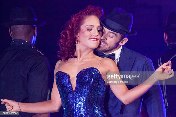 Sharna Burgess and Artem Chigvintsev perform live during Dancing With The Stars Live 'Dance All Night Tour' at Beacon Theatre on January 6 2016 in...