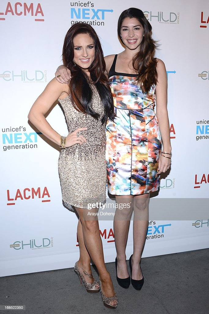 Sharna Burgess and Jamie Gray Hyder attend the UNICEF NextGen Los Angeles launch at LACMA on May 9, 2013 in Los Angeles, California.