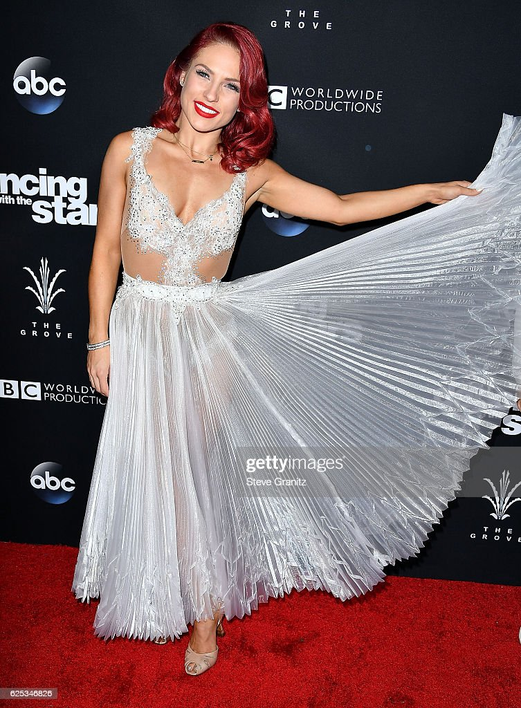 Sharna Burgess arrives at the ABC's 'Dancing With The Stars' Season 23 Finale at The Grove on November 22, 2016 in Los Angeles, California.