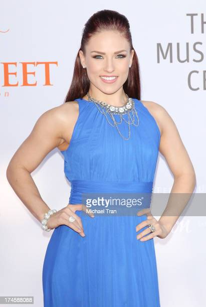 Sharna Burgess arrives at the Dizzy Feet Foundation's 3rd Annual Celebration of Dance Gala held at Dorothy Chandler Pavilion on July 27 2013 in Los...