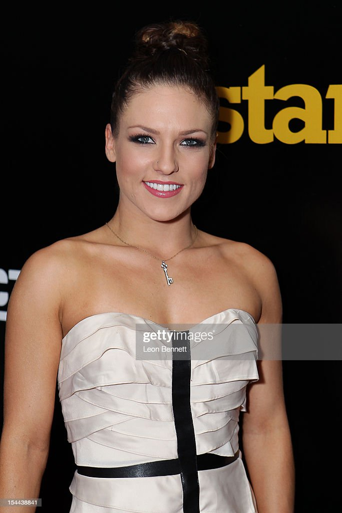 Sharna Burgess arrives at the J. Cole Performs At Footaction's 'Own The Stage' Celebration at W Hollywood on October 19, 2012 in Hollywood, California.