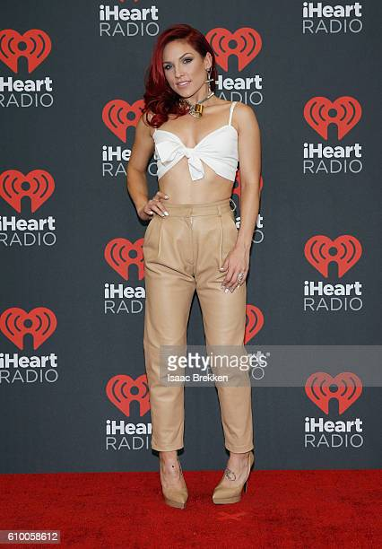 Sharna Burgess attends the 2016 iHeartRadio Music Festival at TMobile Arena on September 23 2016 in Las Vegas Nevada