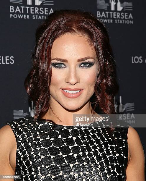 Sharna Burgess attends the Battersea Power Station Global Launch Party in Los Angeles at The London Hotel on November 6 2014 in West Hollywood...