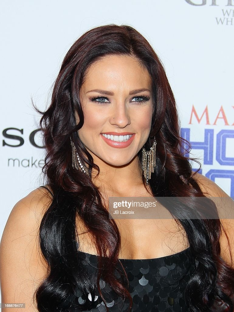 Sharna Burgess attends the Maxim 2013 Hot 100 party held at Create on May 15, 2013 in Hollywood, California.