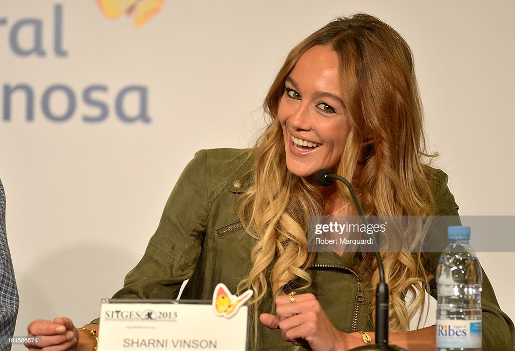 <a gi-track='captionPersonalityLinkClicked' href=/galleries/search?phrase=Sharni+Vinson&family=editorial&specificpeople=690345 ng-click='$event.stopPropagation()'>Sharni Vinson</a> attends a press conference for her latest film 'Patrick' at the 46th Sitges Film Festival on October 11, 2013 in Sitges, Spain.