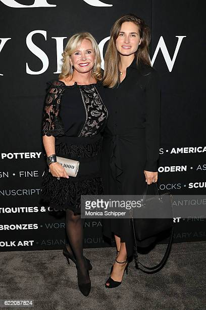 Sharon Bush and CEO and CoFounder of FEED Projects Lauren Bush Lauren attend the 2016 New York Art Antique Jewelry Show FEED Preview Party at Pier 94...