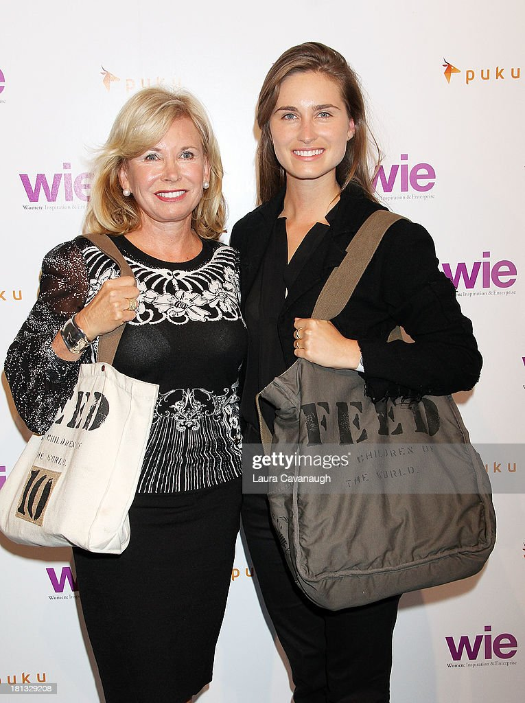 <a gi-track='captionPersonalityLinkClicked' href=/galleries/search?phrase=Sharon+Bush&family=editorial&specificpeople=217522 ng-click='$event.stopPropagation()'>Sharon Bush</a> (L) and Lauren Bush attend day 1 of the 4th Annual WIE Symposium at Center 548 on September 20, 2013 in New York City.