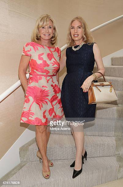 Sharon Bush and Lauren Lawrence attend the 2015 Samuel Waxman Cancer Research Foundation's 'Collaborating for a Cure High Tea' at a Private Residence...