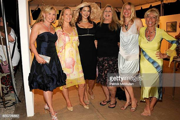 Sharon Bush Anne Hearst Laura Harring Jane Palzer Alice Judelson and Lisa de Kooning attend The 15th Annual WATERMILL Summer Benefit at The Watermill...