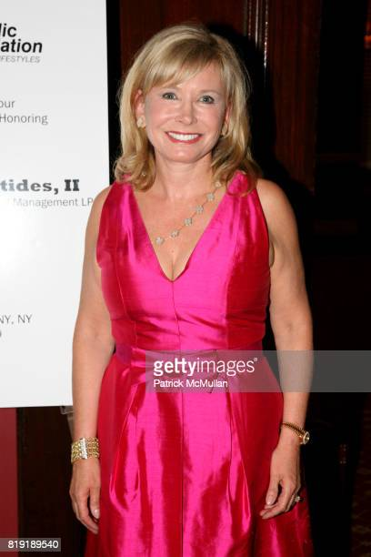 Sharon Bush attends ORTHOPAEDIC FOUNDATION for ACTIVE LIFESTYLES host a pregala cocktail honoring GEORGE K KOLLITIDES II at The Harvard Club on July...