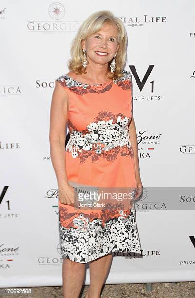 Sharon Bush attends 'Social Life' magazine's June 2013 cover release party at Georgica on June 15 2013 in Wainscott New York