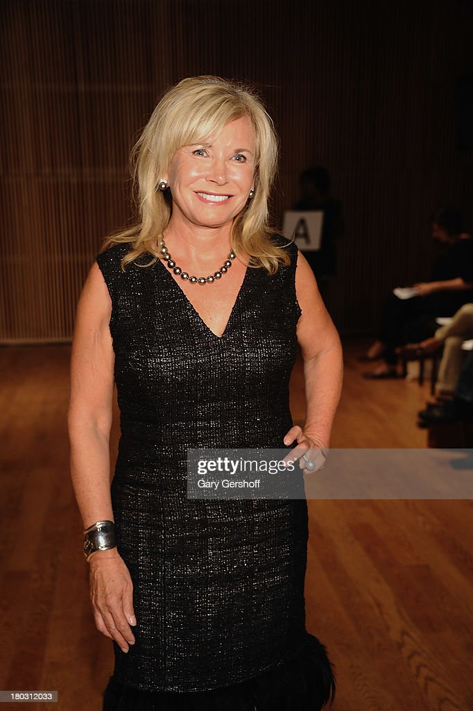 <a gi-track='captionPersonalityLinkClicked' href=/galleries/search?phrase=Sharon+Bush&family=editorial&specificpeople=217522 ng-click='$event.stopPropagation()'>Sharon Bush</a> attends the Douglas Hannant show during Spring 2014 Mercedes-Benz Fashion Week at DiMenna Center on September 11, 2013 in New York City.