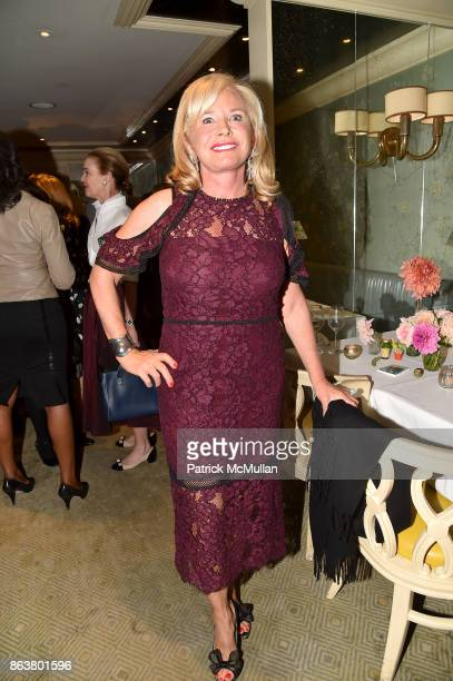 Sharon Bush attends the launch of Second Bloom Cathy Graham's Art of the Table hosted by Joanna Coles and Clinton Smith at Bergdorf Goodman on...