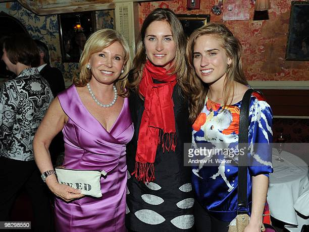 Sharon Bush Lauren Bush and Ashley Bush attend the Somaly Mam Foundation's Voices of Change AntiHuman Trafficking event at The Box on April 6 2010 in...