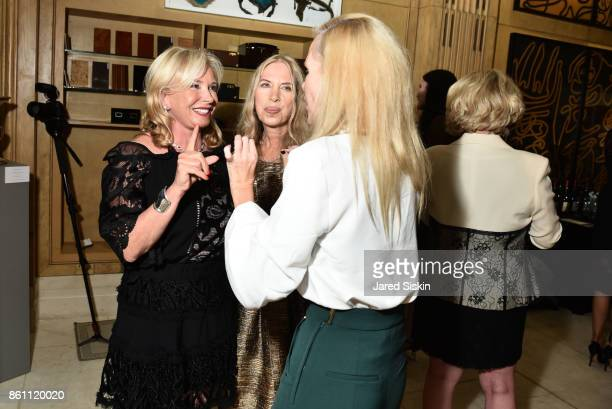 Sharon Bush Lauren lawrence and MichelleMarie Heinemann attend Old Fashioned Mom Magazine and Traum Safes welcome Jacques Bounin from Le Rosey at...