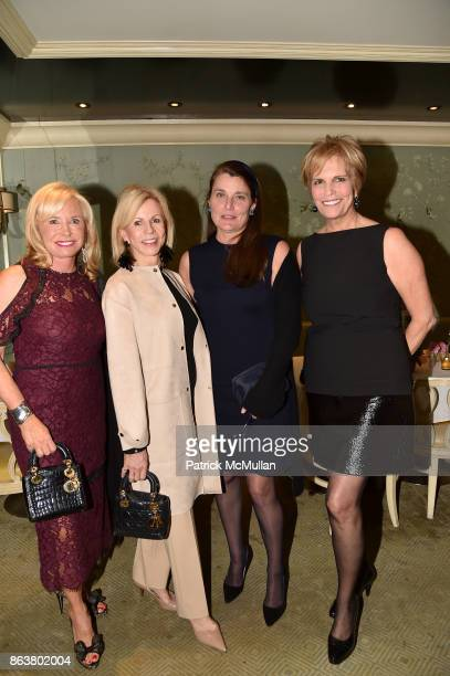 Sharon Bush Susan Bennett Virginia Warner and Laura Slatkin attend the launch of Second Bloom Cathy Graham's Art of the Table hosted by Joanna Coles...