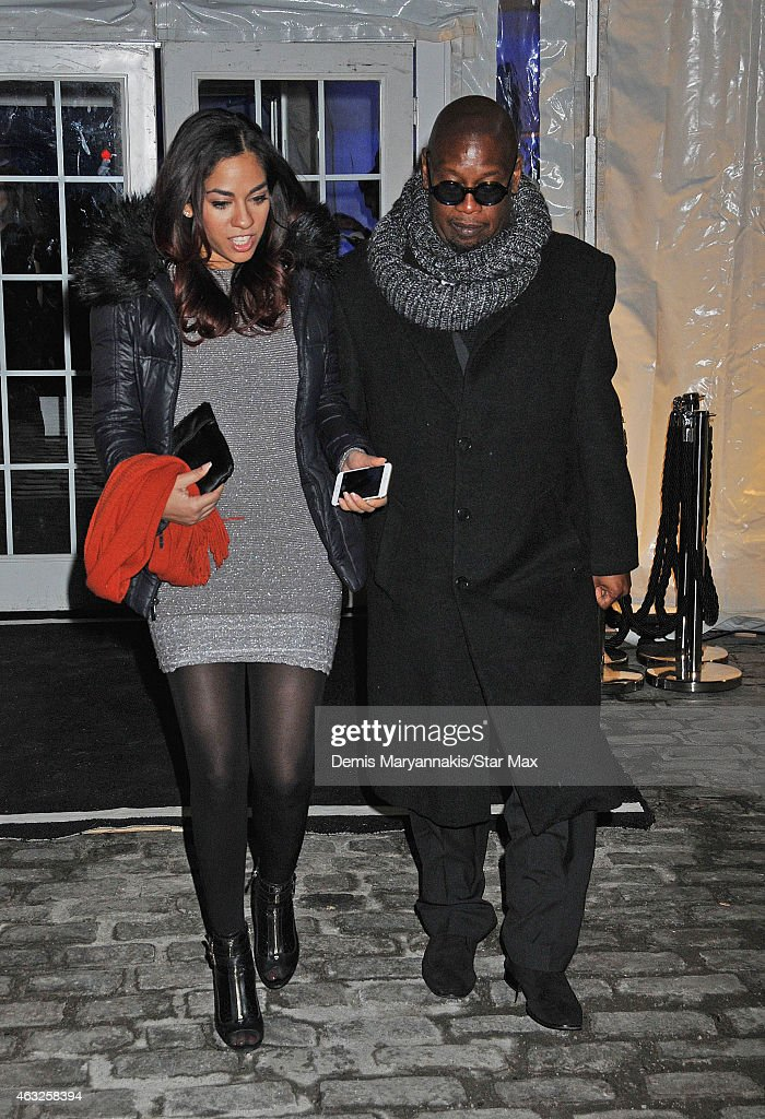 Sharon Carpenter and Andre Harrell are seen on February 11 2015 in New York City
