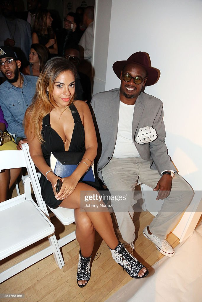 Sharon Carpenter and Andre Harrell attend Argyleculture By Russell Simmons during MercedesBenz Fashion Week Spring 2015 at Helen Mills Event Space on...