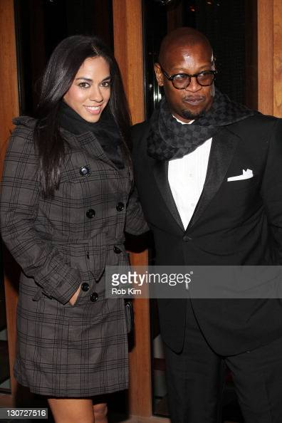 Sharon Carpenter and Andre Harrell attend Vikram Chatwal's 40th Birthday celebration at Romera at the Dream Downtown on October 28 2011 in New York...