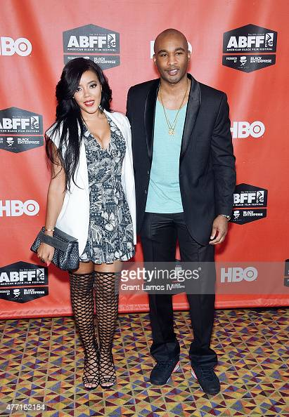 Sharon Carpenter and Datari Turner attend the 'Supermodel' premiere during the American Black Film Festival at AMC Empire on June 14 2015 in New York...