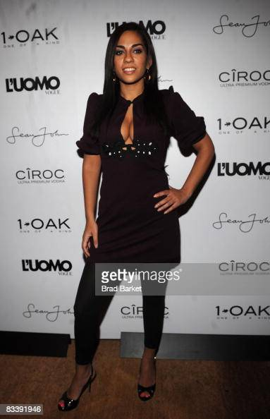 Sharon Carpenter attends Sean Combs' October 2008 L'Uomo Vogue music issue cover celebration at 1OAK on October 22 2008 in New York City