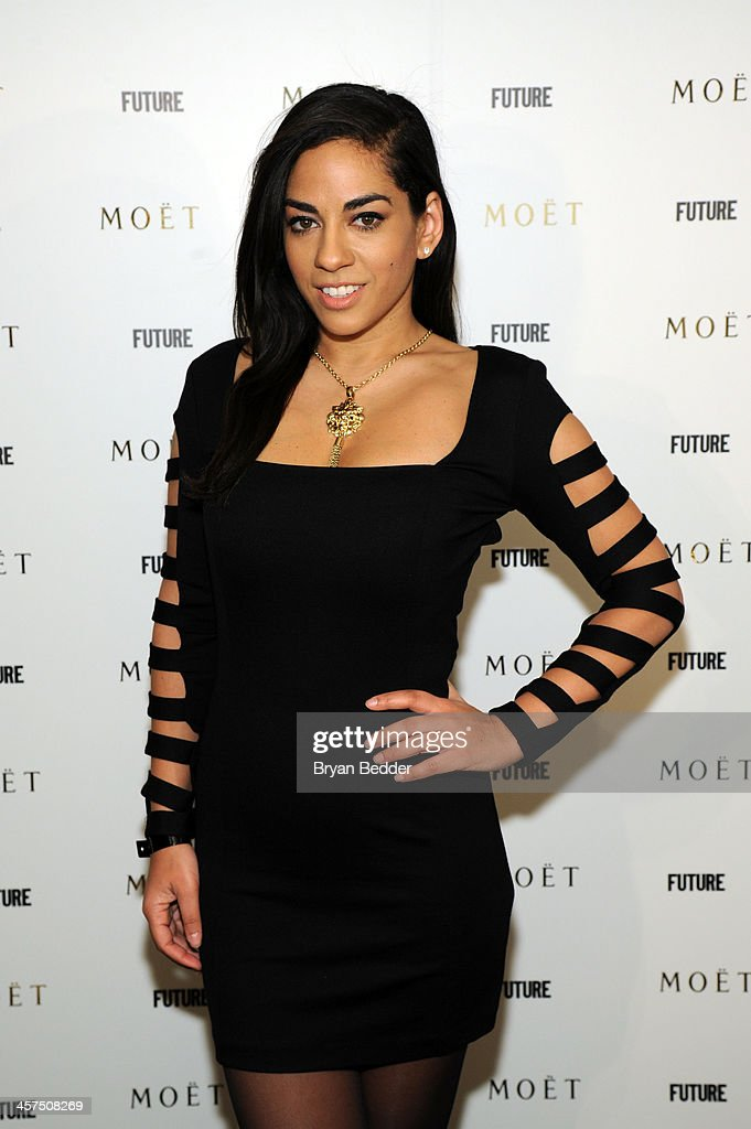 Sharon Carpenter attends the Moet Rose Lounge at The Box on December 17 2013 in New York City