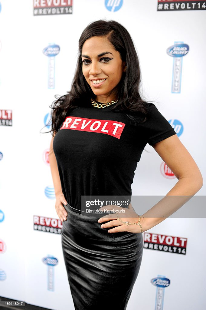 Sharon Carpenter attends the REVOLT TV First Annual Upfront presentation at Marquee on April 22 2014 in New York City
