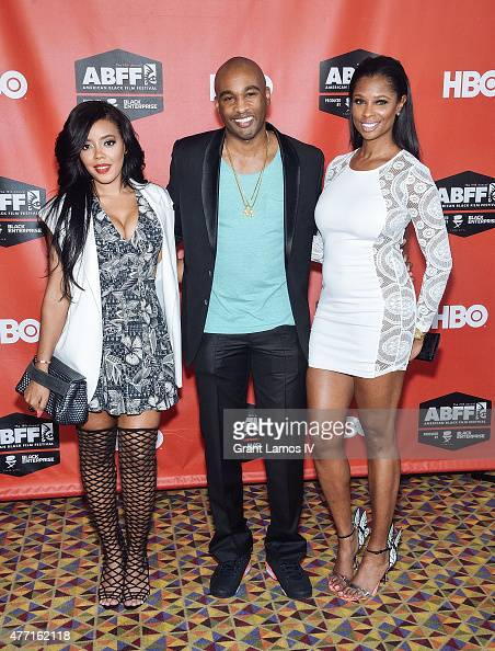 Sharon Carpenter Datari Turner and Jennifer Williams attend the 'Supermodel' premiere during the American Black Film Festival at AMC Empire on June...