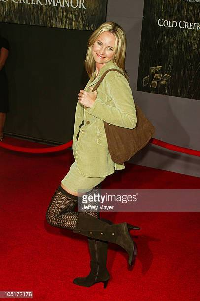 Sharon Case during 'Cold Creek Manor' Premiere at El Capitan Theatre in Hollywood California United States