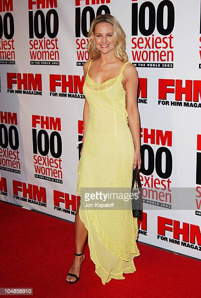 Sharon Case during FHM's '100 Sexiest Women in the World' Party CoSponsored by Smirnoff Vodka at Raleigh Studios in Hollywood California United States