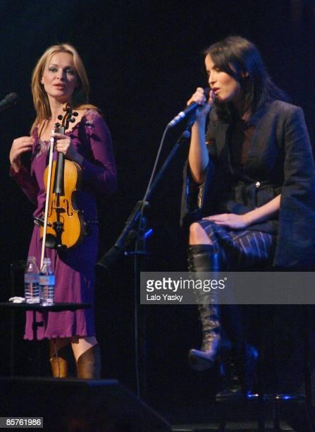 Sharon Corr and Andrea Corr