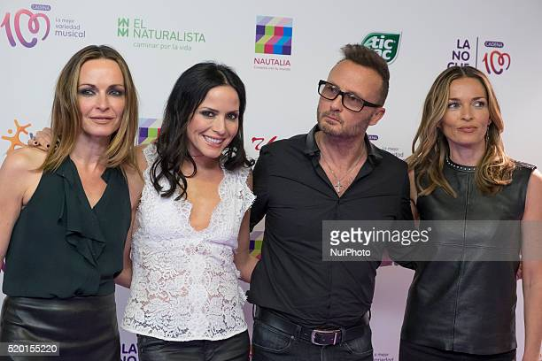 Sharon Corr Andrea Corr Jim Corr and Caroline Corr of irish band The Corres attend 'La Noche de Cadena 100' photocall at Barclaycard center on April...