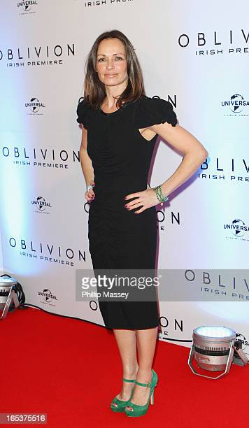 Sharon Corr attends the Dublin premiere of 'Oblivion' at the Savoy Cinema on April 3 2013 in Dublin Ireland